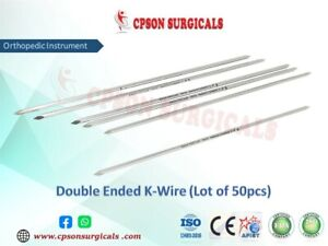 Orthopedic Premium Quality Double Ended K Wire Lot Of 50pcs Ss Instrument