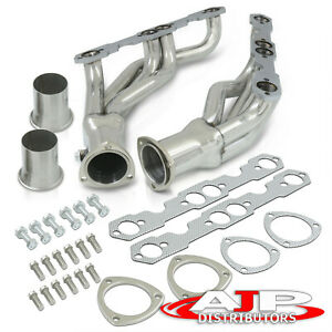 2pc Stainless 4 1 Exhaust Header Manifold For 1988 1997 C k Truck Sbc 5 0 5 7 V8