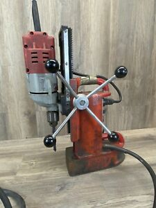 Milwaukee 4203 Electromagnetic Drill Press 4253 1 Motor Tested Working 207