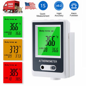 Wall Mount Non contact Digital Ir Thermometer Lcd Display Temperature Meter Bz