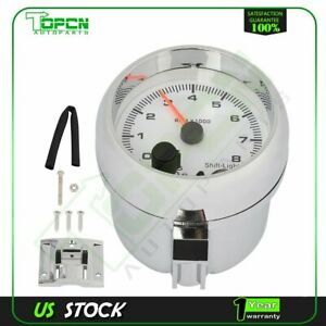 3 75 95mm Racing Tachometer Gauge With 7 Colors Led Light 0 8000 Rpm
