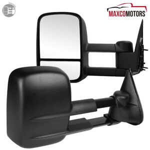 For 1999 2007 Chevy Silverado Gmc Sierra Extended Telescoping Manual Tow Mirrors