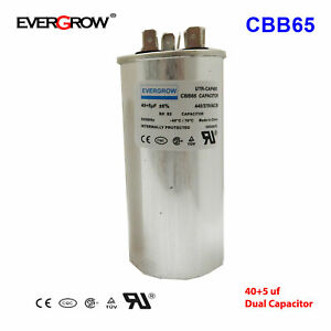 40 5uf Mfd Motor Dual Run Capacitor For Carrier Goodman Air Conditioner Ul Ce