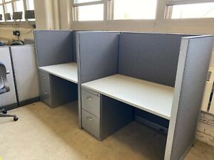 Telemarketers Cubicle partition System By Steelcase Kick Office Furniture