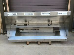 9 Foot Exhaust Hood Vent Commercial Restaurant Kitchen Stainless Steel Used