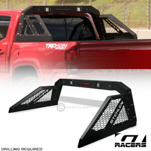 For Mid Size Pickup Truck Adjustable Chase Rack Bar W 3rd Brake Lamp Led Amber