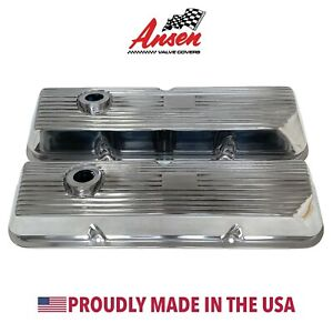Ford 428 Cobra Jet Valve Covers Polished Fits 352 390 427 Ansen Usa