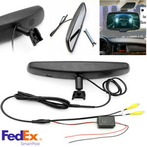 4 3 Car Rear View Reverse Mirror Monitor 800 480 Tft Lcd Color With Bracket New