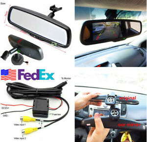 1pc Auto Rear View Mirror Monitor 4 3 Inch Resolution Tft Lcd Color Car Monitor