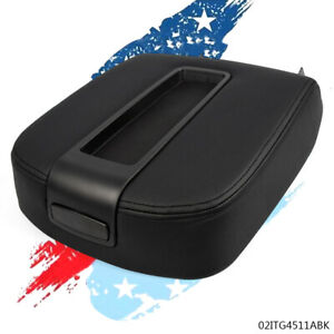 Fit 07 14 Silverado Sierra 1500 Front Center Console Lid Kit Armrest Black Cover