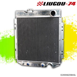 62mm Aluminum Cooling Radiator Silver For 1964 1966 Ford Mustang V8 L6 Mt at