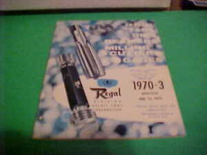 Vintage Original 1970 Regal Beloit Tool Corp Catalog 1970 3 Taps dies reamers