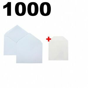 1000 Shippingmailers 4 3 8 X 5 3 4 White Paper A2 Invitation Envelopes 50 Cpp