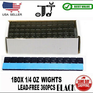 1box 1 4 Oz Black Wheel Weights Stick on Adhesive Tape Lead free 360pcs