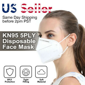 Kn95 5layer Pm2 5 Face Mask Disposable Respirator Protective Earloop Mouth Cover