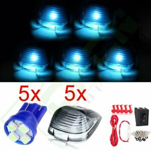 5x Smoke Cab Marker Lights Free Bulbs W Wiring Pack For Ford F 250 Super Duty