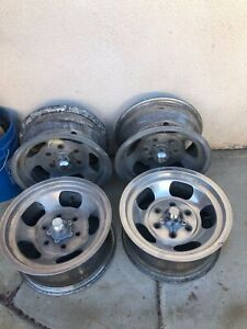 Chevy Gmc 6 Lug Mags 15 U S Indy Wheels Set Of 4 Slotted Good Shape 15x7