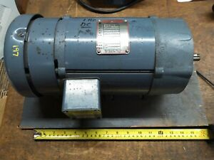 Baldor 1hp 1750rpm Shunt Wound Electric Motor Dc 180a 200 100f 56c W foot Nos
