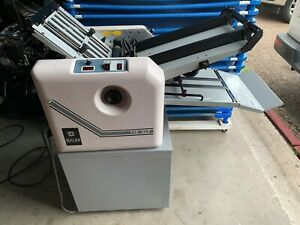 Baum 714xlt 714xltd 2 p 1 Air Feed Folder With Cart