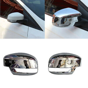 For 2012 2013 2018 Ford Focus St Rs Chrome Rear View Side Door Mirror Cover 2pcs
