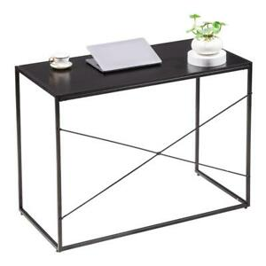 Computer Writing Desk Study Table Pc Laptop Industrial Conference Table Black