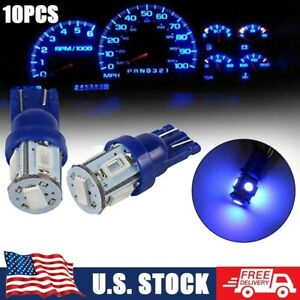 10x For Ford F 150 F 250 T10 168 194 Led Instrument Panel Dash Lights Blue Bulbs