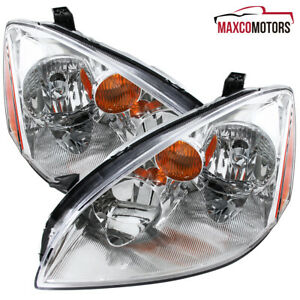 For 2002 2003 2004 Nissan Altima Headlights Lamps Left Right Replacement
