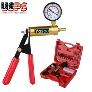 Brake Bleeder Vacuum Pump Tester Hand Held Tool Kit Manual Pistol Pump Us