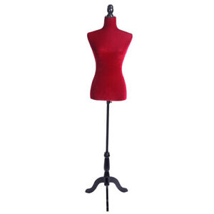 Half length Female Red Mannequin Torso Dress Clothing Display With Tripod Stand