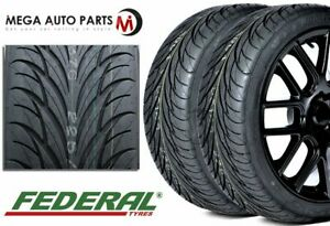 2 Federal Ss595 Ss 595 205 50zr16 87w All Season Uhp High Performance Tires