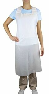 Disposable Plus White Polyethylene Waterproof Aprons 28 X 46 Inches 90 Pack