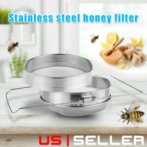 Stainless Steel Beekeeping Double Honey Sieve Strainer Filter Apiary Equipment