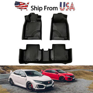 For Honda Civic 2016 2020 Heavy Duty Rubber Tpe All Weather Liners Floor Mats
