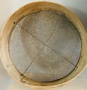 Large Vintage Wood Grain Sifter