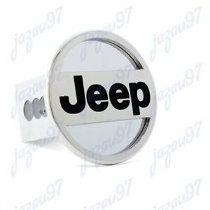For Jeep Polished Stainless Steel Hitch Cover Cap Plug 2 Trailer Tow Receiver