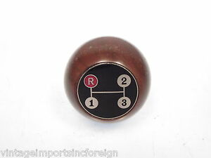 Amco Walnut 3 Speed Gearshift Knob Fits Ford Mustang 3 Speed Up Through 1967