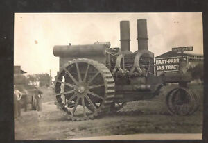 REAL PHOTO HART PARR TRACTOR VINTAGE OLD FARMING FARM INPLEMENT POSTCARD COPY