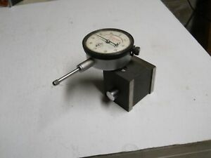 Starrett 25 631 Dial Indicator W 657 Magnetic Base 0005 1 Range Used