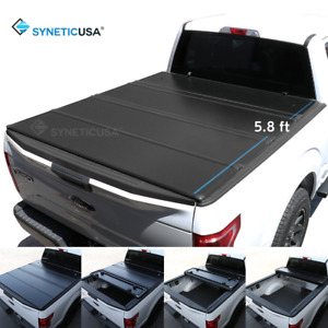 Waterproof Hard Tonneau Cover For 2009 2018 Ram 1500 Truck Bed 5 8ft Quad fold