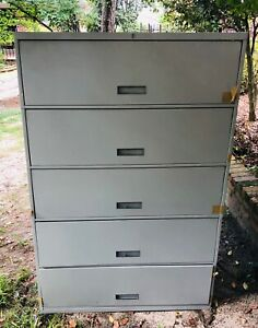 Gray Lateral File Cabinet 5 Shelf Doctors Office Legal
