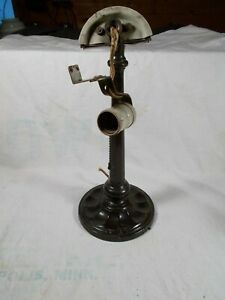 Antique Emeralite Style Table Desk Lamp With Pullchain Socket C1910s