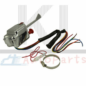 Universal Chrome 12v Street Hot Rod Turn Signal Switch Hl101 For Buick Ford Gm