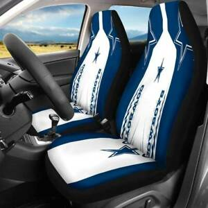 Dallas Cowboys Fans 2pcs Car Seat Universal Fit Covers Truck Seat Protector Gift