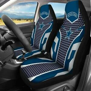 Dallas Cowboys 2pcs Car Seat Universal Fit Covers Pickup Seat Protector Fan Gift