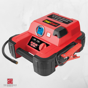 Auto Battery Jump Starter Air Compressor 750 Peak Amps Portable Car Charger New