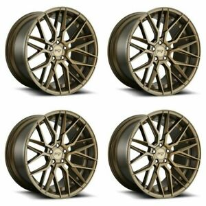 Set 4 19 Niche M191 Gamma 19x9 5 Matte Bronze 5x4 5 Wheels 35mm Rims