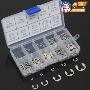 Stainless Steel E Clips C Circlip Kit Retaining Ring 120 X Assorted M1 5 M10mm