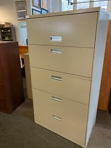 5 Drawer Lateral Size File Cabinet By Hon Office Furniture W lock