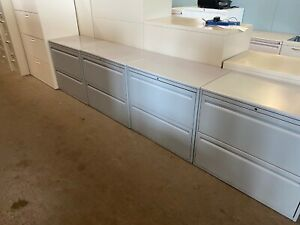 2 Drawer Lateral Size File Cabinet By Haworth Office Furniture W lock