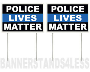 8x12 Inch Police Lives Matter Yard Sign With Stake Kb 2 Pack
